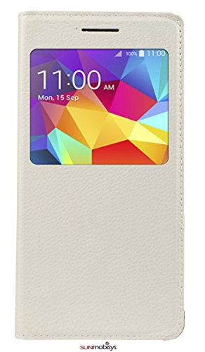 Sun Mobisys Samsung Galaxy Grand Prime Flip Cover; Premium Faux Leather For Allround Protection Phone Case Pearl White  available at amazon for Rs.149