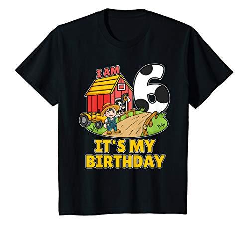 Kostüm Shirt Bauer - Kinder 6. Geburtstag Bauer Shirt Landwirt Ich Bin Schon 6 Jahre T-Shirt
