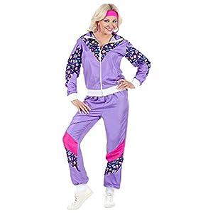 WIDMANN Disfraz de Chándal de Años 80 Violeta para Adulto M