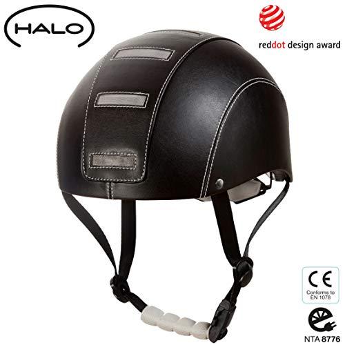HALO Radhelm aus veganem Leder – Geprüfter Fahrradhelm für Fahrräder, Skateboard, Pedelecs und S-Pedelecs bis 45km/h für Damen und Herren – Sicherheit,...