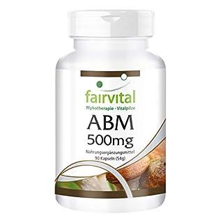 ABM 500mg - Agaricus Blazei Murill - VEGAN - 90 Kapseln - Pilzpulver