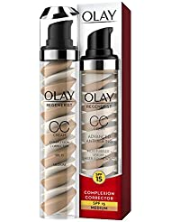 Olay Regenerist Anti-ageing Complexion Corrector Day CC Cream Moisturiser SPF15, 50 ml (Even Skin Tone Instantly and Over Time)