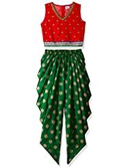 Elaisha Girls' Regular Fit Salwar Suit