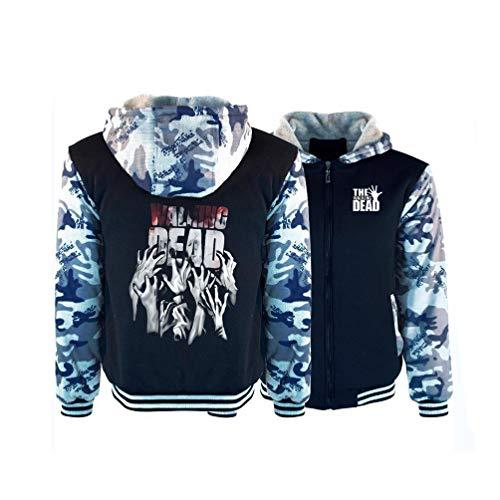 Xdsy The Walking Dead Winter Sweatshirt Warme Jacke Hoodie Verdicken Zip Jacke Student Hoodie,b,S