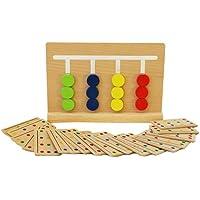 Toys of Wood Oxford Juego de clasificación de colores de madera - Juguete de clasificación de madera con tarjetas de patrón y disco de color - Juego de rompecabezas de madera para niños - Peluches y Puzzles precios baratos