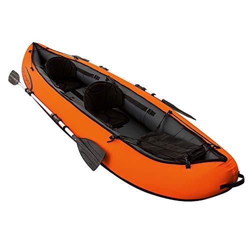Kanqingqing Kajak Schlauchboot Beiboot Angriffsboot DREI Dicke Fischerboot Haut Kajak Kajak Hovercraft/Orange (Farbe : Orange, Größe : 330x94cm)