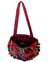 Gaurapakhi Rajasthani Collection And Ethnic Cotton Handmade Handbag With Multicolor For Women's - B07D7J39F5