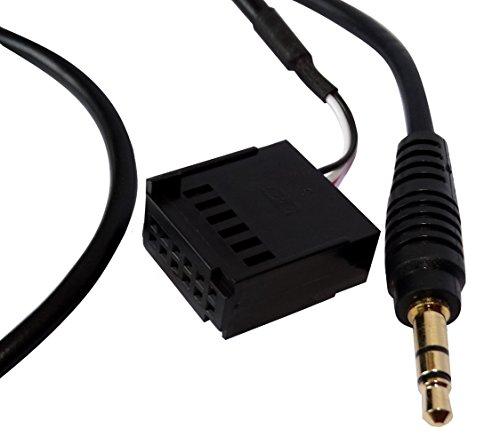 AERZETIX: Adaptador cable AUX con jack 3.5mm para autoradio de coche vehiculos...