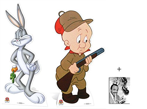 fan-pack-bugs-bunny-and-elmer-fudd-looney-tunes-lifesize-cardboard-2d-standup-cutout-double-pack-plu