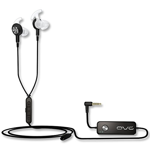 OVC H15 Active Noise Cancelling Kopfhörer, Dual Driver In Ear ANC Ohrhörer, 60 Stunden Spielzeit, 3.5mm Cable, für Android, IOS 10.3.3 and Older Versions (Schwarz)