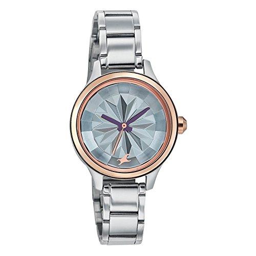 4197eo 3aIL - 6132KM01 Fastrack Silver Women watch