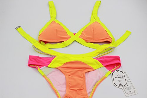 MEISHINE® Elegant Damen Frauen Bandeau Bikini Set Push Up Bademode Badeanzug Mehrfarben 1