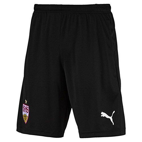 PUMA Kinder VfB Stuttgart 2 Side Pockets with Zip Training Shorts, Black, 164 -