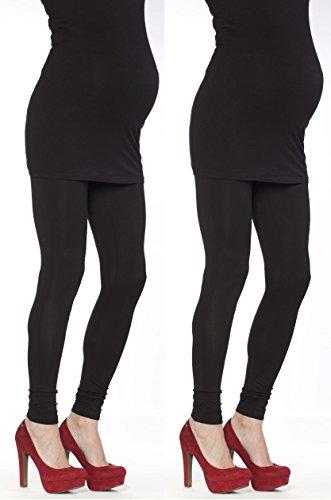 2 Set Damen Umstandsmode Leggings Umstandsleggings Umstands- Leggings Strumpfhosen Leggins