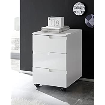Rollcontainer weiß günstig  Rollcontainer, Rollschrank, Rollwagen, Büroschrank, Hochglanz ...