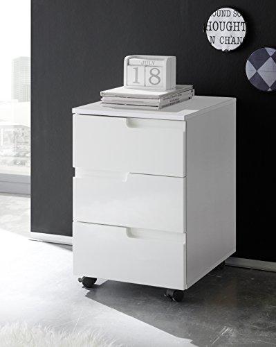 Stella Trading Spice Rollcontainer, Holzdekor, Weiß, ca. 40 x 60 x 45 cm -