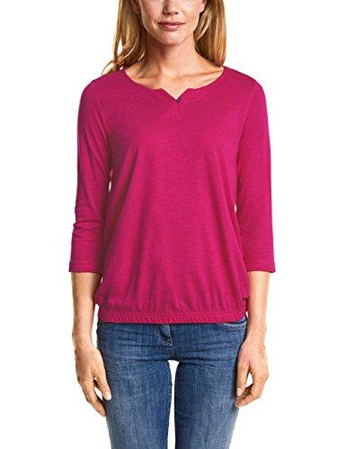 Cecil Damen T-Shirt 312447 Judith, Pink (Bright Magenta 11352), Medium