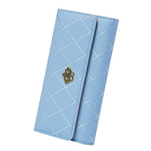 Portafoglio Femminile,Chickwin Raccoglitore Lungo Femminile Della Borsa Sottile Di Nuovo Modo (Azzurro)