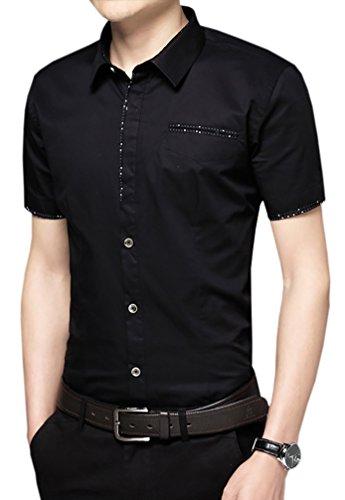 Starepe - Chemise habillée - Homme Noir - #0158_Black