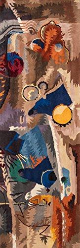 momeni Teppiche newwanw-05wht2030New Wave Collection, 100% Wolle Hand geschnitzt & getuftet modernes Bereich Teppich, 2'x 3', weiß, weiß, 2'6