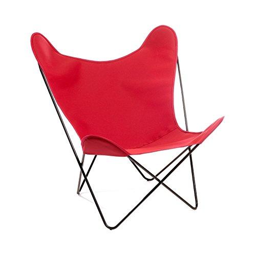Manufakturplus Butterfly Chair Hardoy Acryl Stahl Schwarz