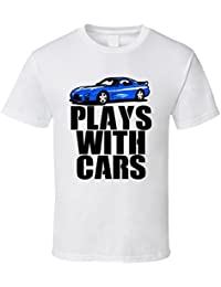 Blue 2001 Mazda RX-7 Plays with Cars Cool Car T Shirt XXXX-L