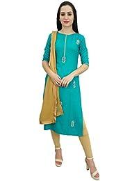 Atasi Disenador Rayon Salwar Kameez Indio Indio Personalizado Mujer Ropa