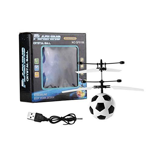 Infrarot Induktion Flying Flash Disco LED Fußball Helikopter Kinderspielzeug