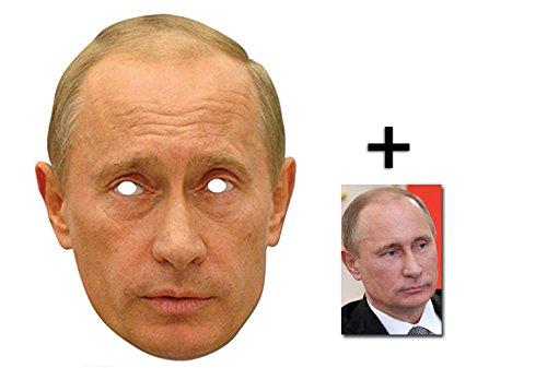 (Vladmir Putin Russischen Präsidenten Single Karte Partei Gesichtsmasken (Maske) Enthält 6X4 (15X10Cm) starfoto)