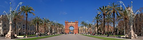 Panoramic Images - Triumphal Arch Built by Josep Vilaseca i Casanovas Main Gate of The Universal Exhibition Parc de la Ciutadella Barcelona Catalonia Spain Kunstdruck (30,48 x 101,60 cm)