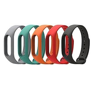 Coosa Elastisches Ersatz-Armband, wasserdicht, für Xiaomi Mi Band 2 (ohne Fitness-Tracker)