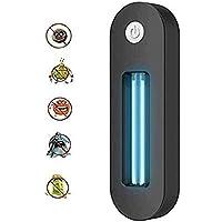 USB de alta velocidad de desinfección UV de la lámpara UVC esterilizador Carga de Aire Limpio for matar los ácaros de Inodoros cubo de basura del zapato Gabinete lámpara germicida, Negro