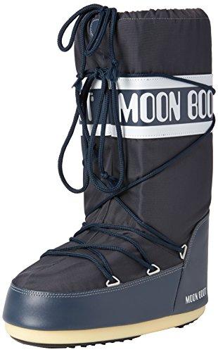 Moon Boot Nylon, Bottes de Neige mixte adulte Bleu (BLUE JEANS 64)