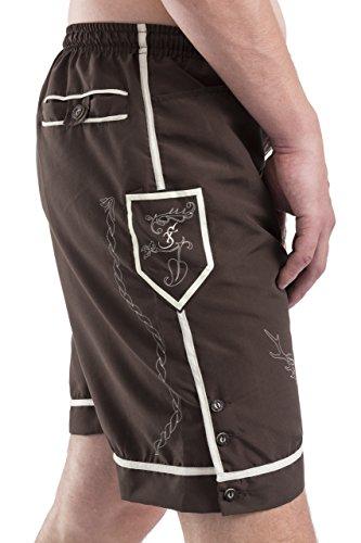 Trachten Badehose - Hopfen & Malz - Lederhose - Trachtenbadehose - Trachten Shorts - Badeshort(XL) - 2