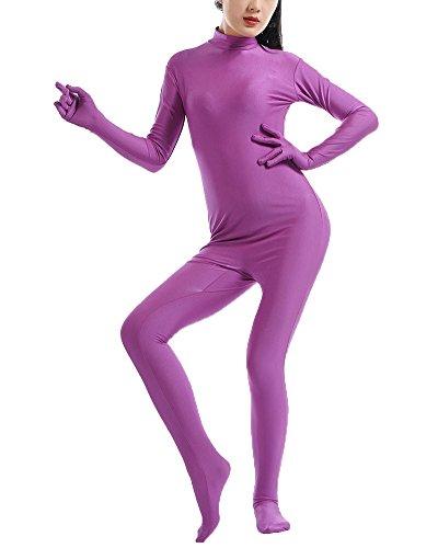 Second Skin Kostüm in zkörperanzug Bühnenaufführung Kostüm Violett S (Silber Morph Anzug)