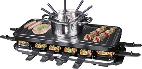Silva-homeline rg di f 12kombi raclette con pentola per fonduta, 12persone, 1600w