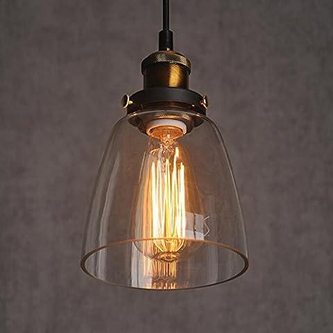 Abat-jour en verre Style Industriel Vintage pour lampe, abat-jour en verre style campagne pour lampe à suspension lustre plafonnier pendentif lumière