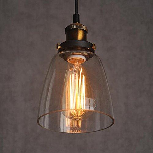 Amber Glass Shade Deckenleuchte Einbau Vintage Retro h?ngende Lampen-Licht-E27 Cap ohne Gl¨¹hlampe