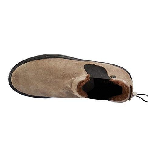 ALESSANDRO MILANO - 102-2 Virginia - Damen Chelsea Boots - Braun XXL Schuhe in Übergrößen Braun