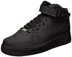 NIKE Herren Air Force 1 Mid '07 High-Top Sneaker, Schwarz, 41 EU