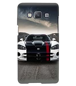 Printvisa Premium Back Cover Stylish Tricoloured Convertible Car Design For Samsung Galaxy A3::Samsung Galaxy A3 A300F