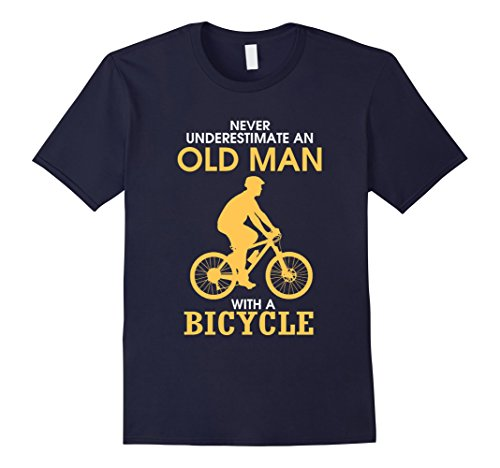 mens-never-underestimate-an-old-man-with-a-bicycle-t-shirt-herren-gre-2xl-navy