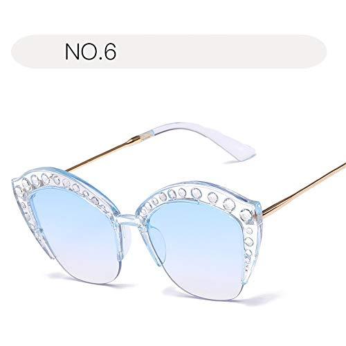 Damen-Sonnenbrillen Mode UV-Brillen bieten umfassenden Schutz für Outdoor-Aktivitäten Sonnenbrillen Brille (Farbe : NO.6, Größe : Free Size)
