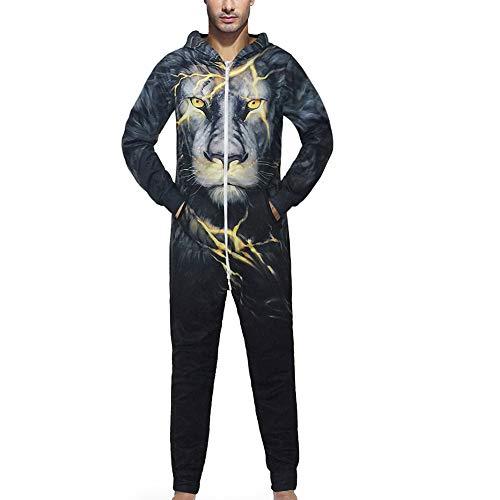 1245229d6e Sweatshirt Herren,SANFASHION Männer Kapuzenpullover Familie 3D Printed  Jumpsuit Adult Strampler.