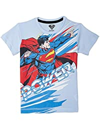 Superman Boy's Plain Regular fit T-Shirt