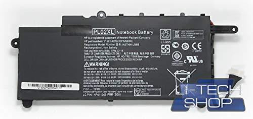 LI-TECH Akku kompatibel mit 3800mAh für HP Pavillion X360 11-N000EP Computer PILA 3.8 Ah