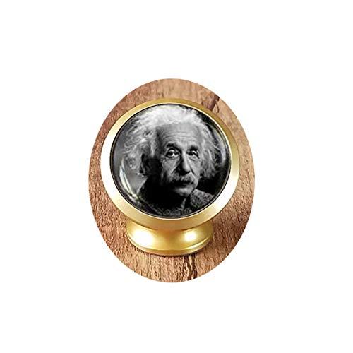 Albert Einstein Science Geek Geschenk Physik Math Lehrer Magnetische Auto Handyhalterung - Deluxe Auto Handyhalterung - Magnetische Halterung 360 Grad drehbar vom Armaturenbrett