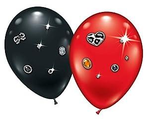 Karaloon 20039-20 - Globos de látex (23 a 25 m), Color Rojo y Negro