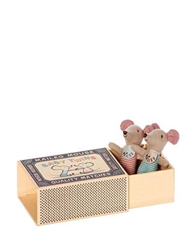 maileg-neonato-gemelli-matchbox-topi-ragazza-bambino-boxed-con-sacco-nanna-biancheria-letto