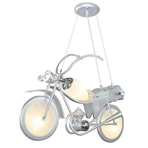 LLYU Motorrad Kronleuchter Kronleuchter Eisen Lampe Körper Bar Zähler Schlafzimmer Kinderzimmer 60 * 18 * 80 cm Warmes Licht